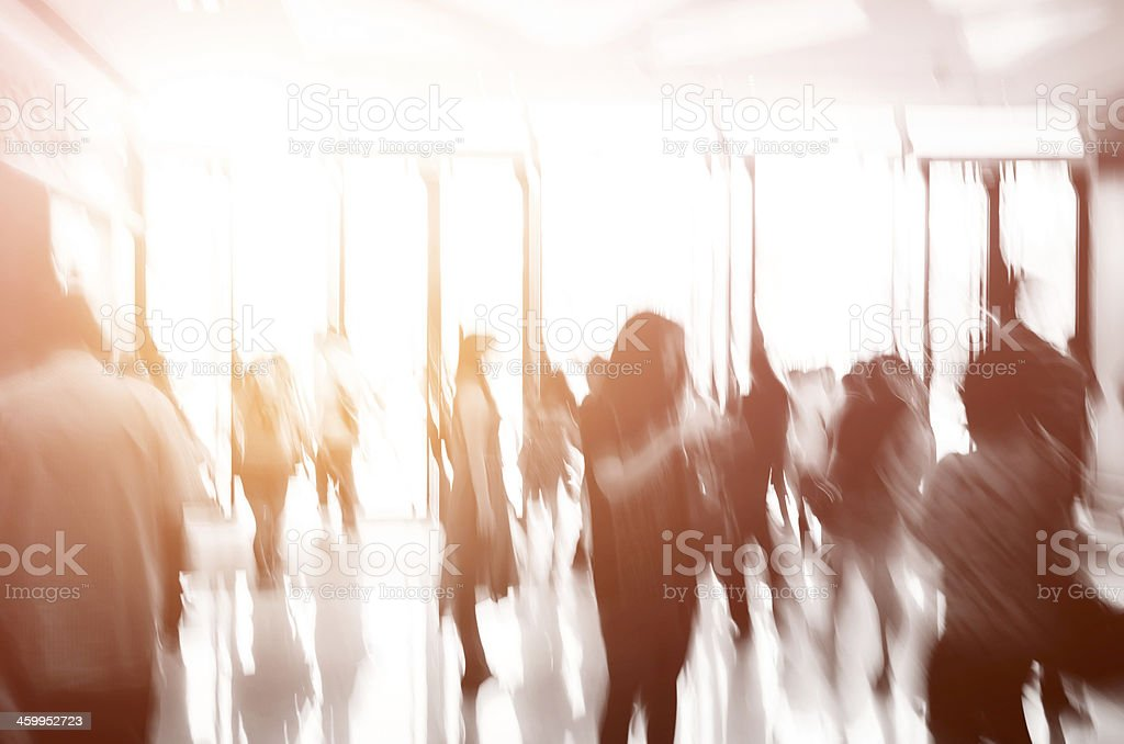 business people activity standing and walking stock photo