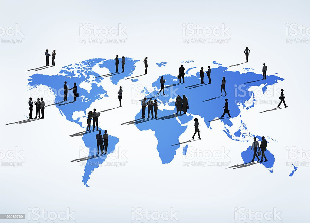 Business People all over the World stock photo