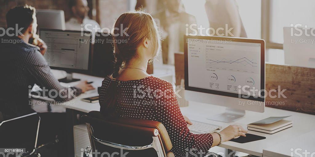 Business People Analysis Thinking Finance Growth Success Concept stock photo