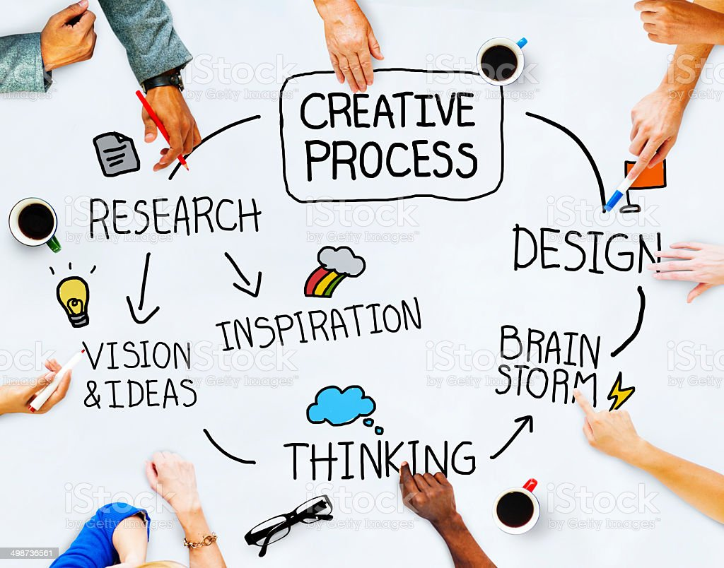 Business People and Creativity Concept stock photo