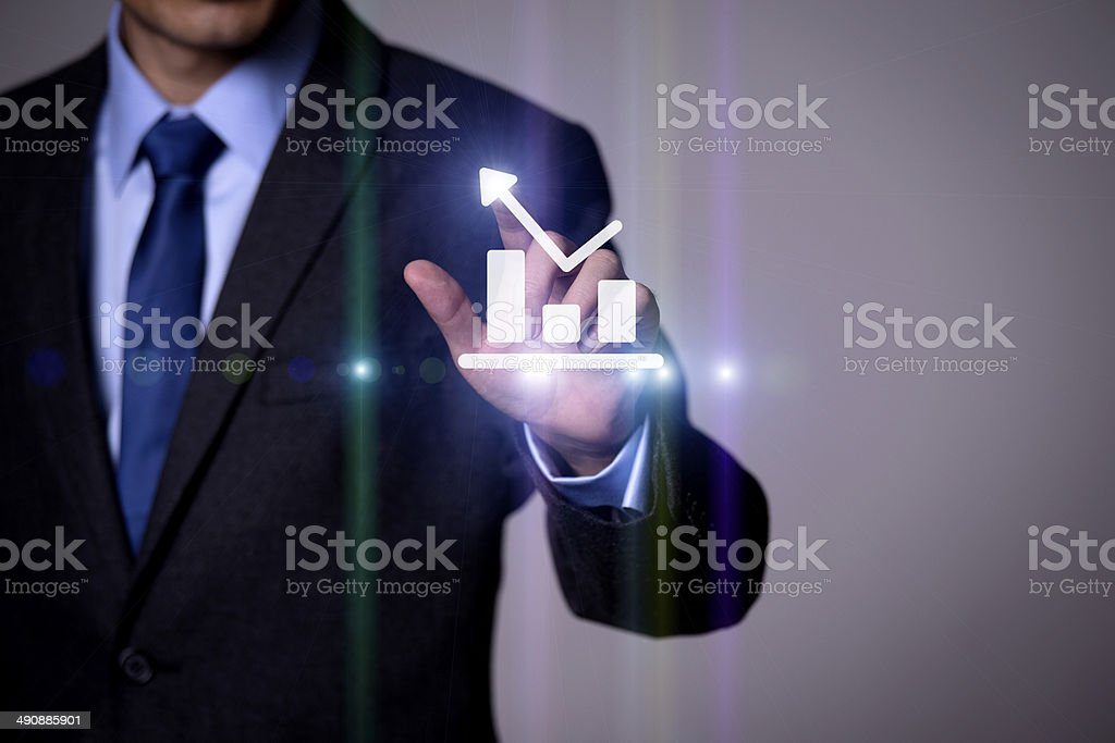 Business people and the future of technology royalty-free stock photo