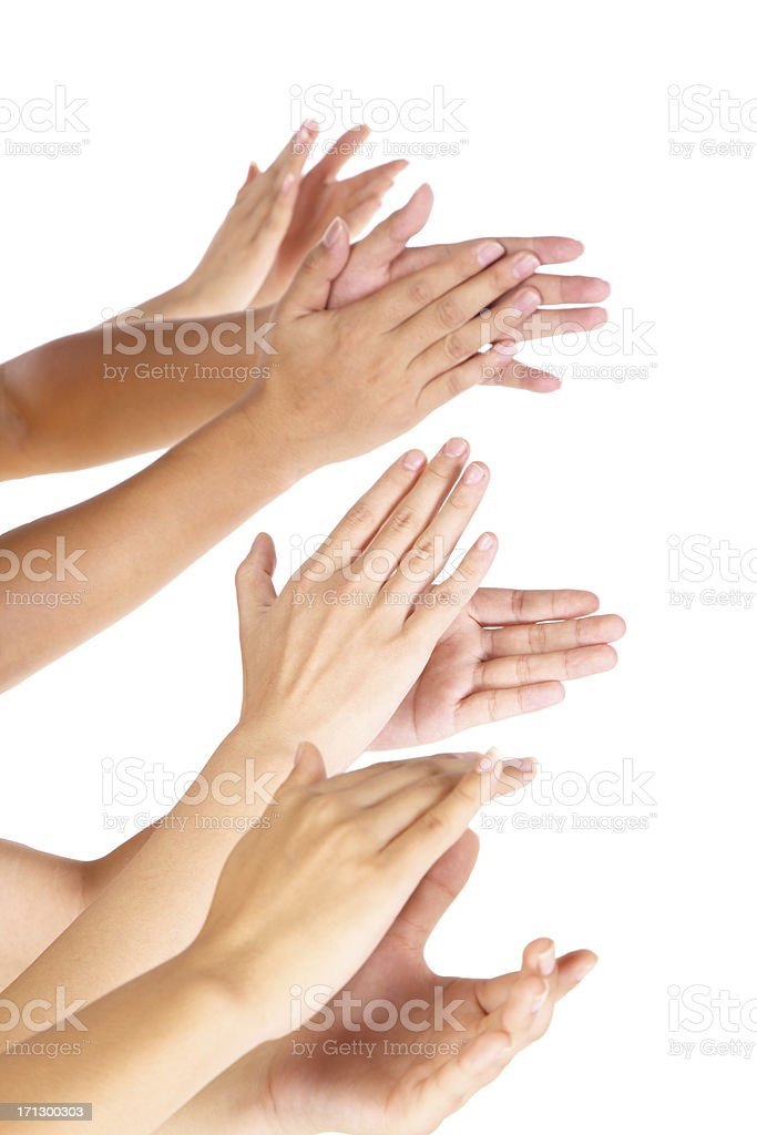 Business people applauding for good work-XXXL stock photo