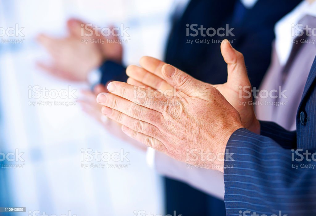 Business People Applauding. royalty-free stock photo