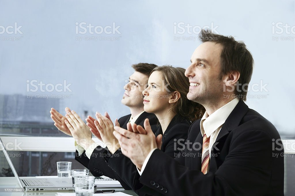 Business people applauding royalty-free stock photo