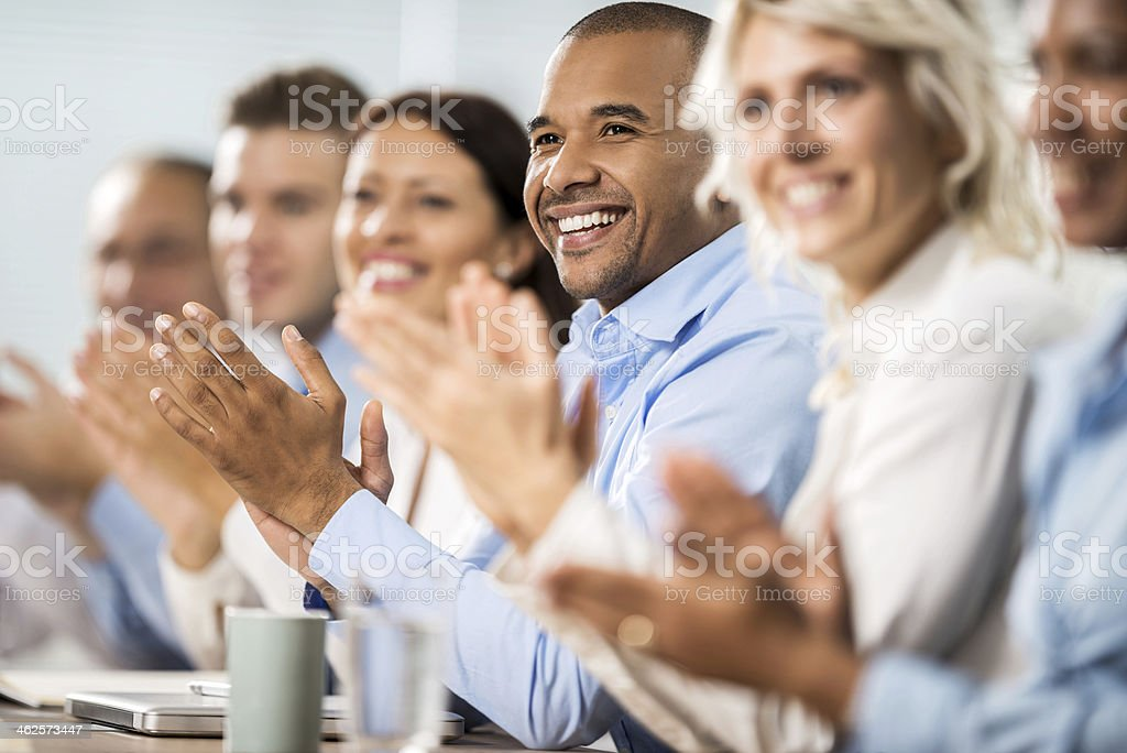 Business people applauding. stock photo