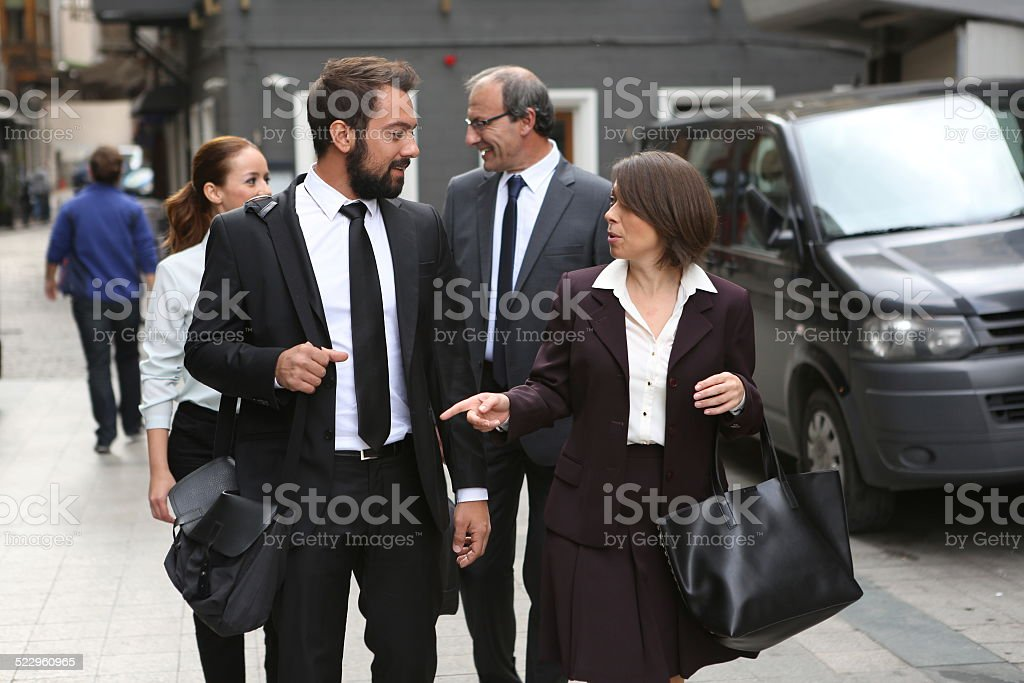 business people are going to meeting at istanbul turkey stock photo