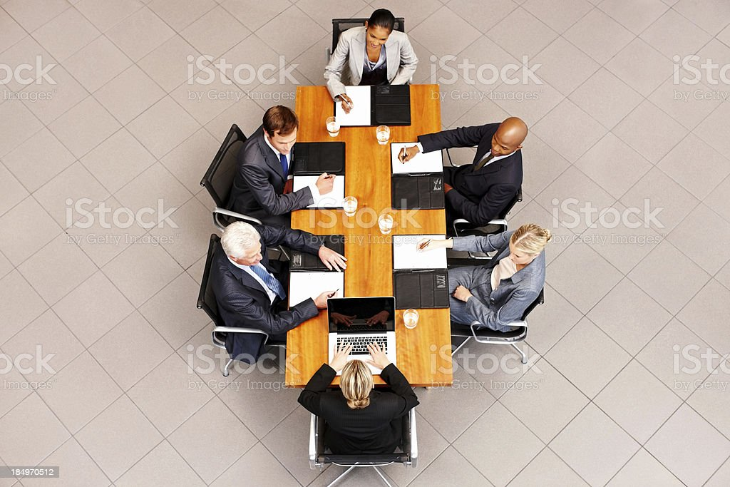 Business People at a Conference Table royalty-free stock photo