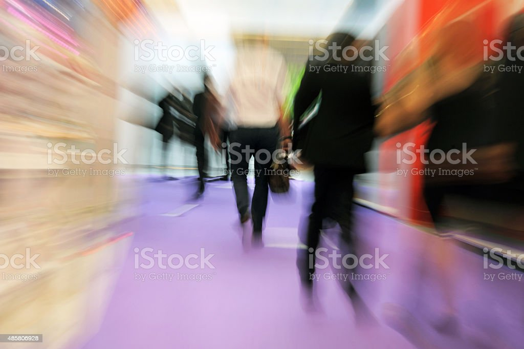 Business People at a Trade Show stock photo