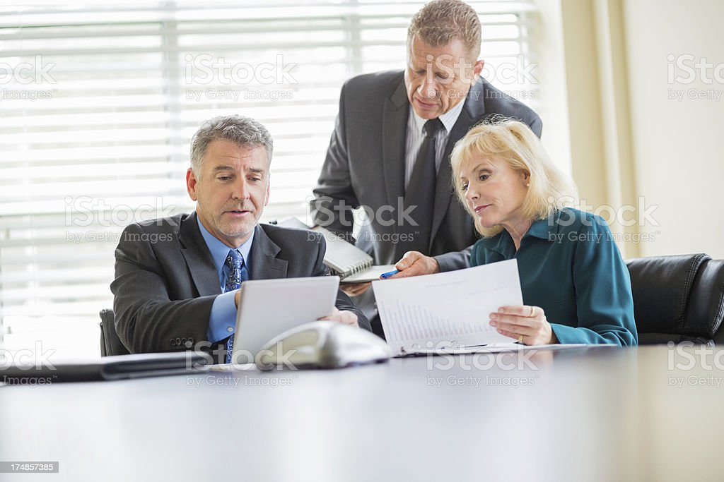 Business People At Conference Table royalty-free stock photo