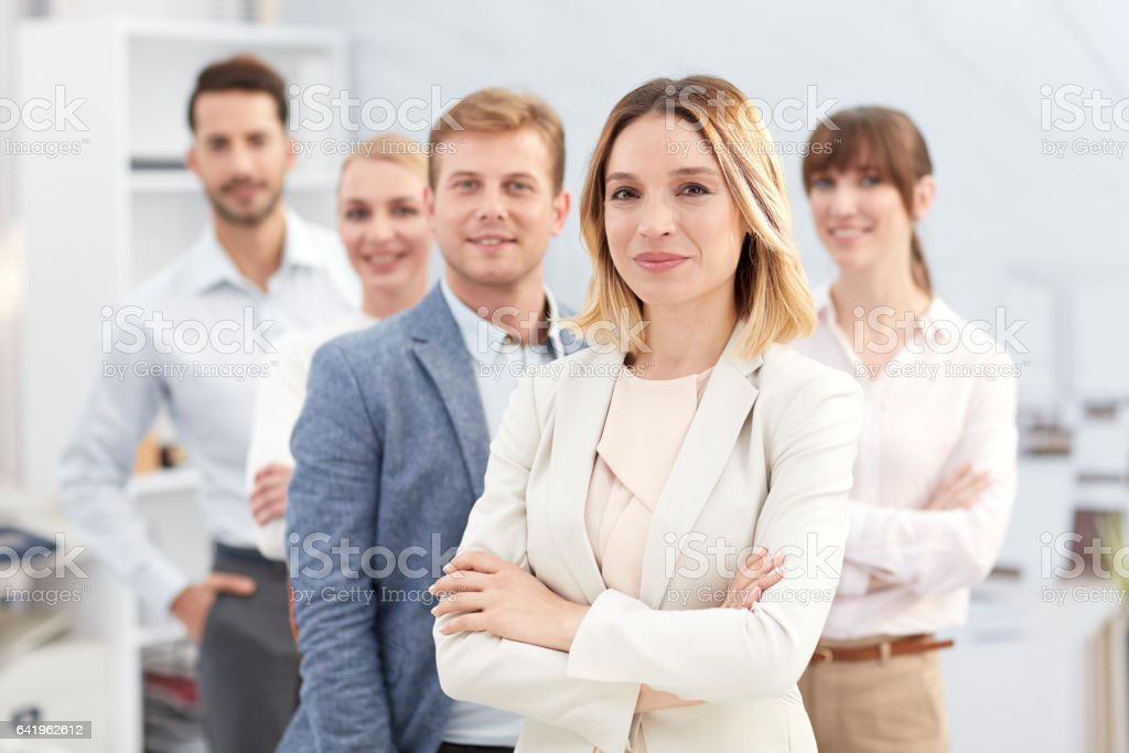 Business people at meeting. stock photo