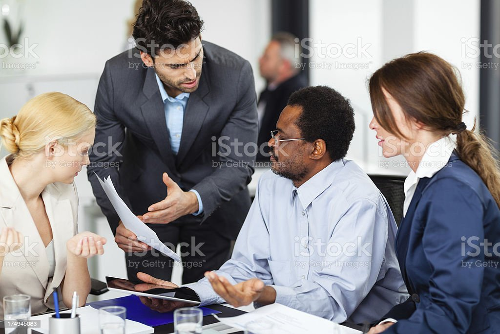 Business people at the meeting stock photo