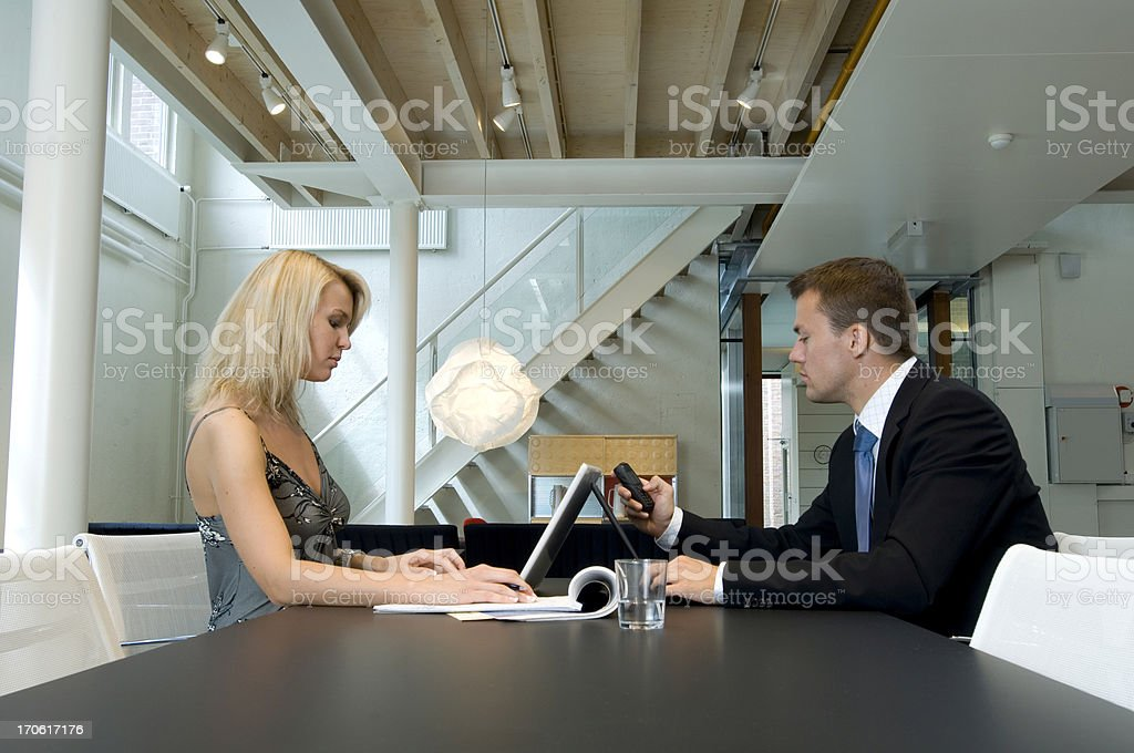 business people at work in office royalty-free stock photo