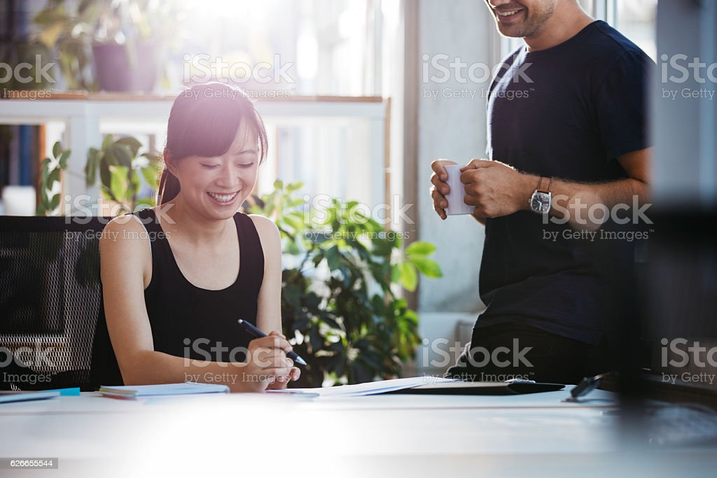 Business people at work in office stock photo