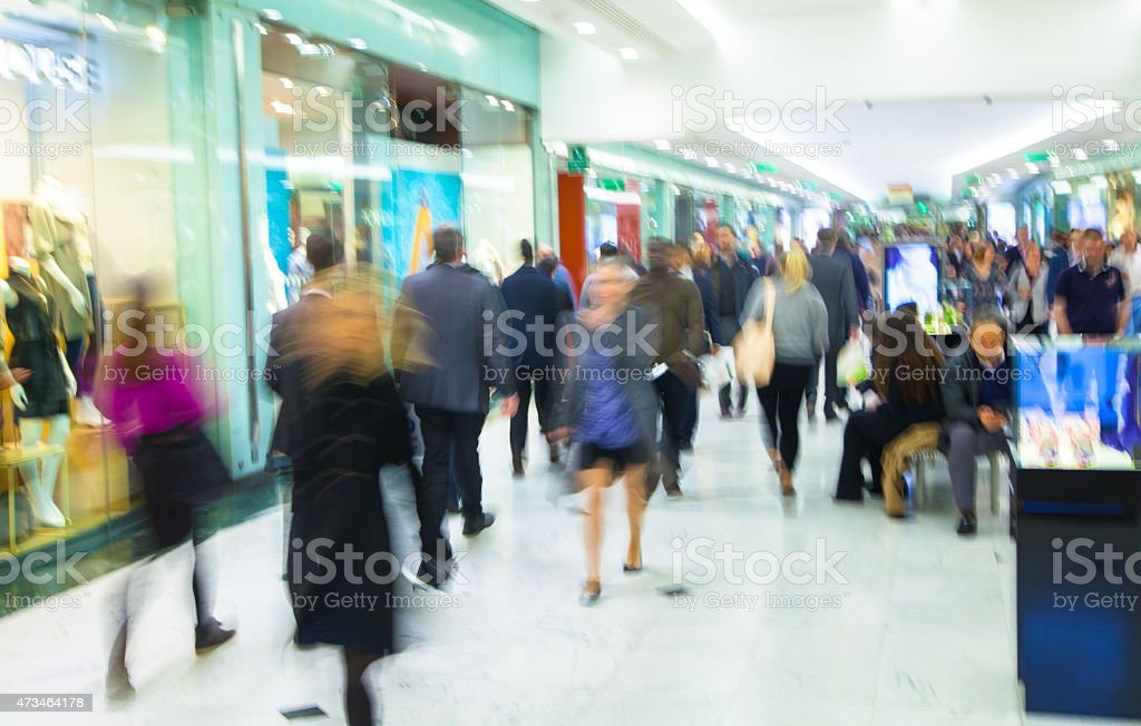 Business people blur. stock photo