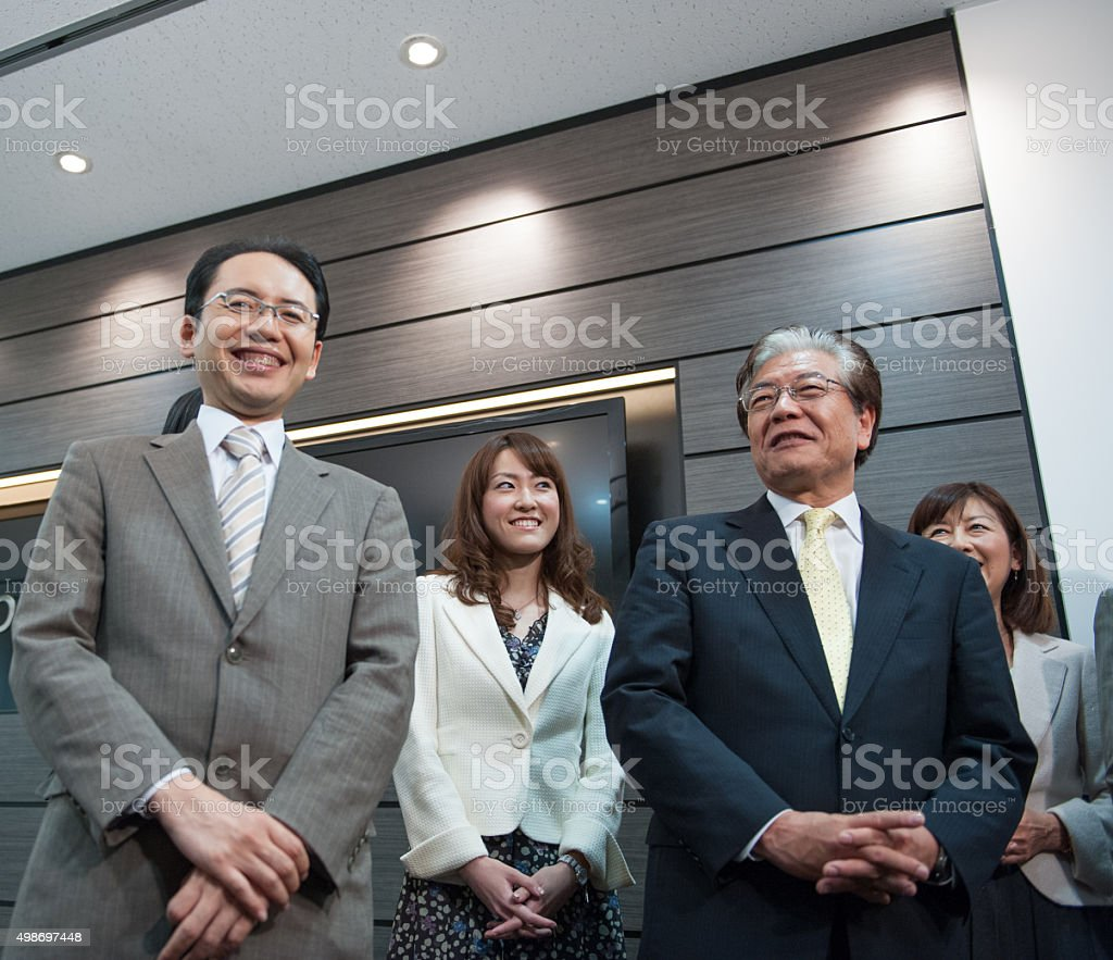 Business People Bow stock photo