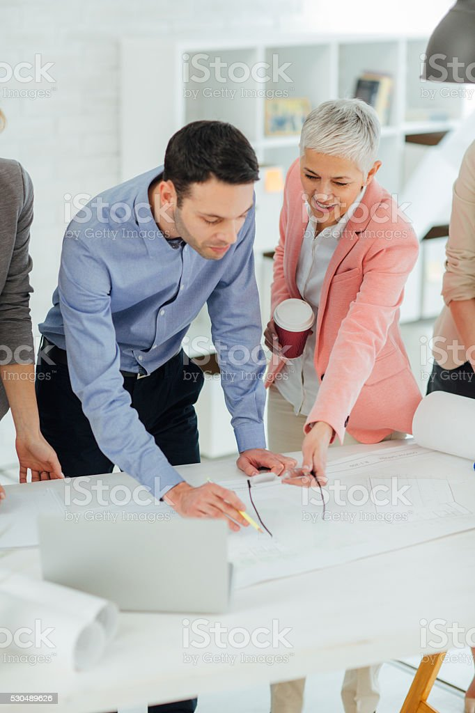 Business People Brainstorming In The Office. stock photo