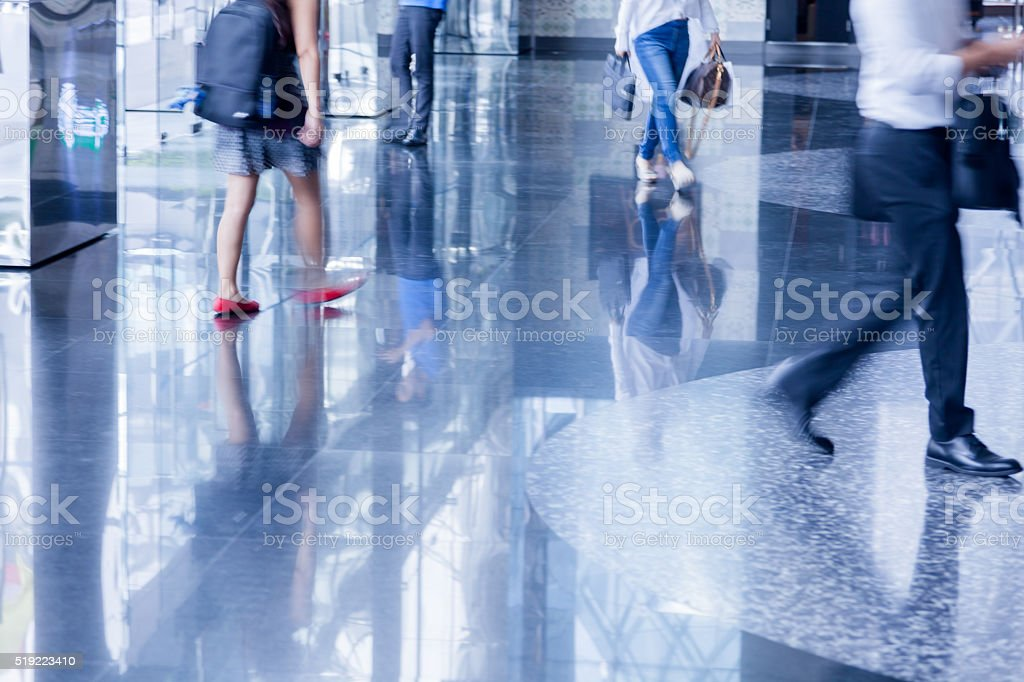 Business people - busy city life stock photo