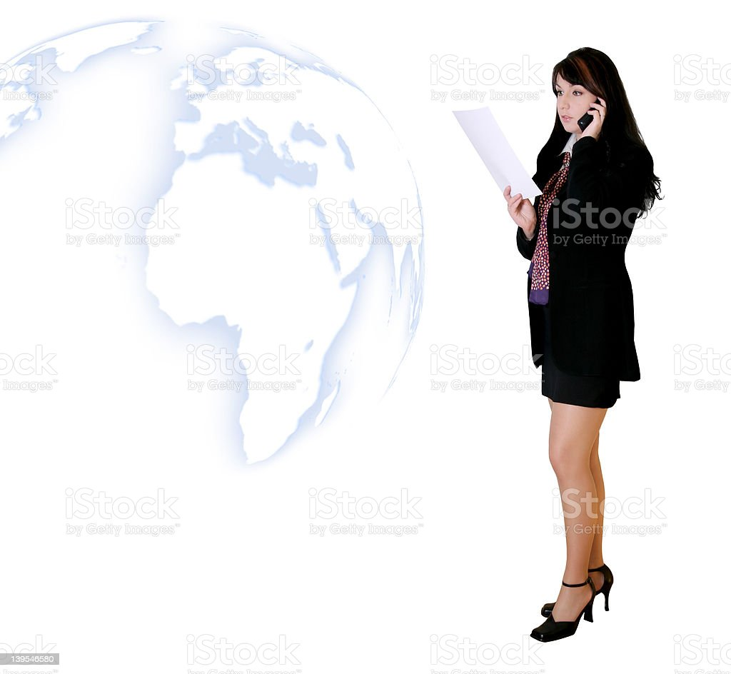 Business People - Calling With News royalty-free stock photo