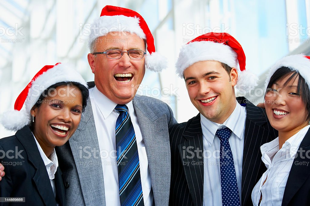 Business people celebrating christmas in the office royalty-free stock photo