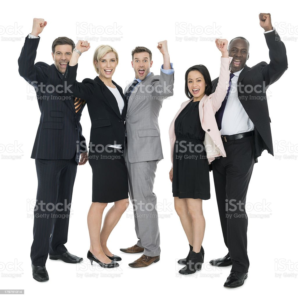 Business People Celebrating Success royalty-free stock photo