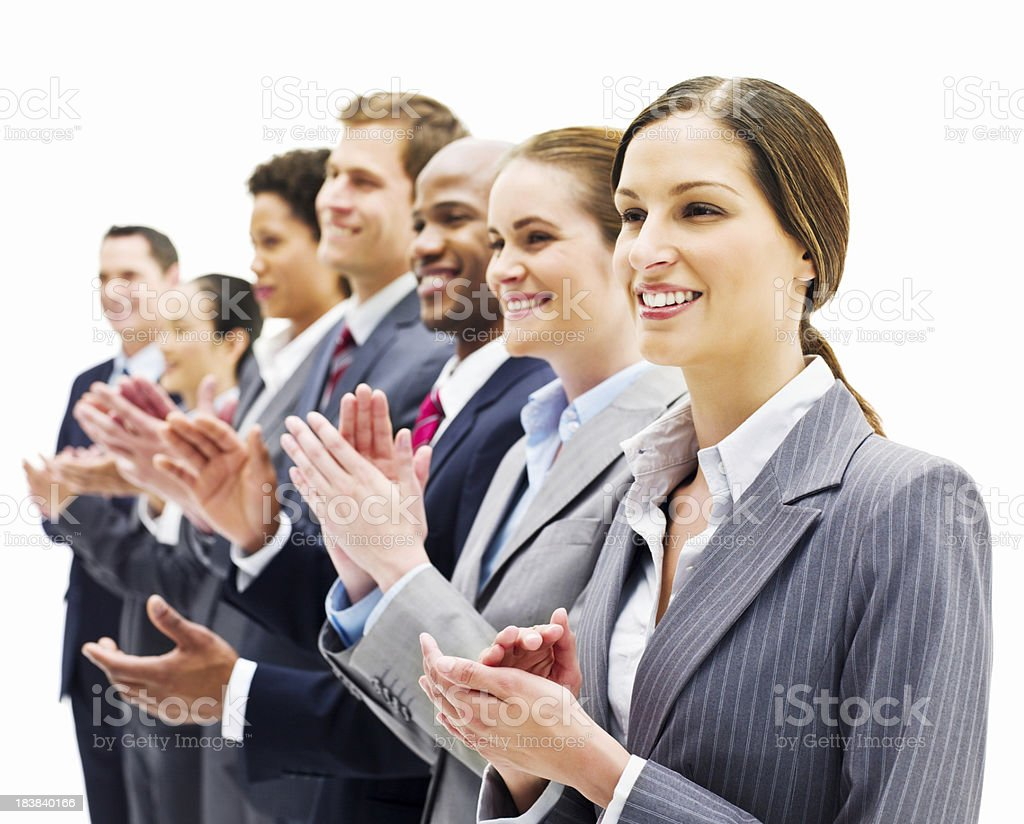 Business People Clapping - Isolated royalty-free stock photo