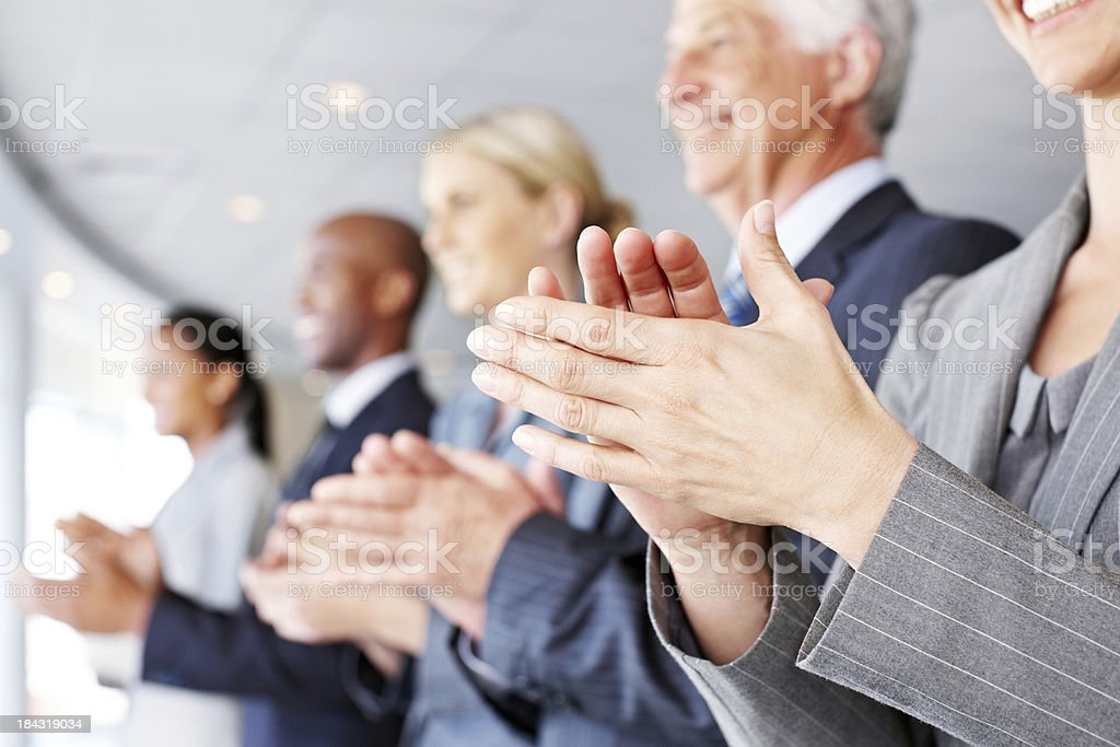 Business People Clapping royalty-free stock photo