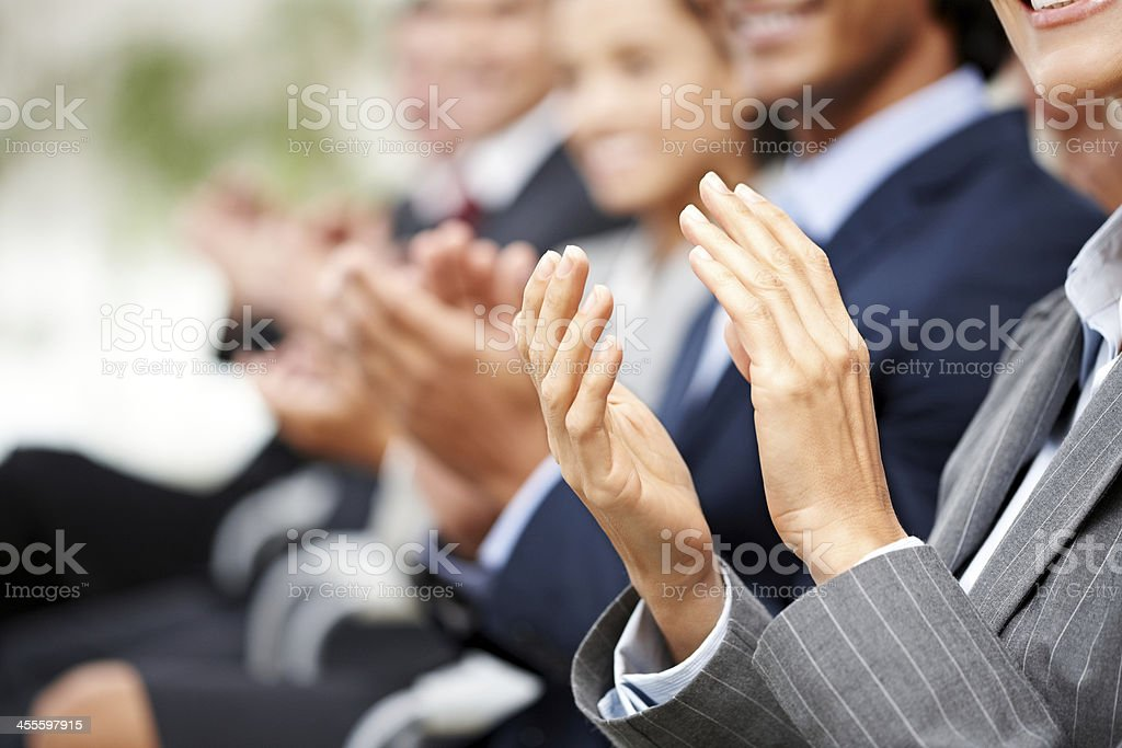 Business People Clapping stock photo