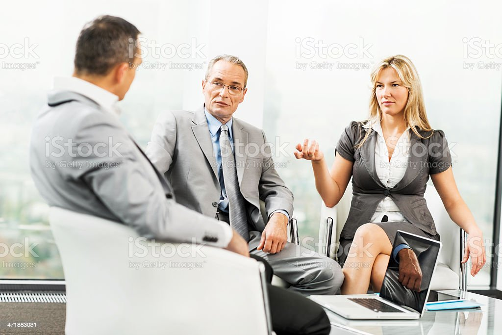 Business people communicating on a meeting. royalty-free stock photo