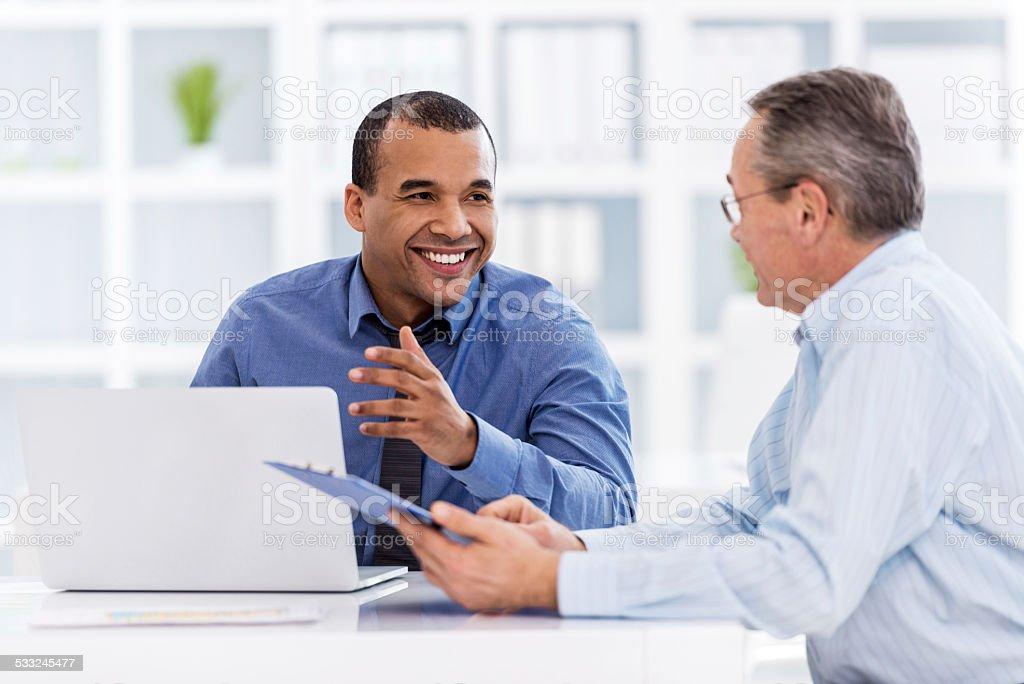 Business people communicating. stock photo