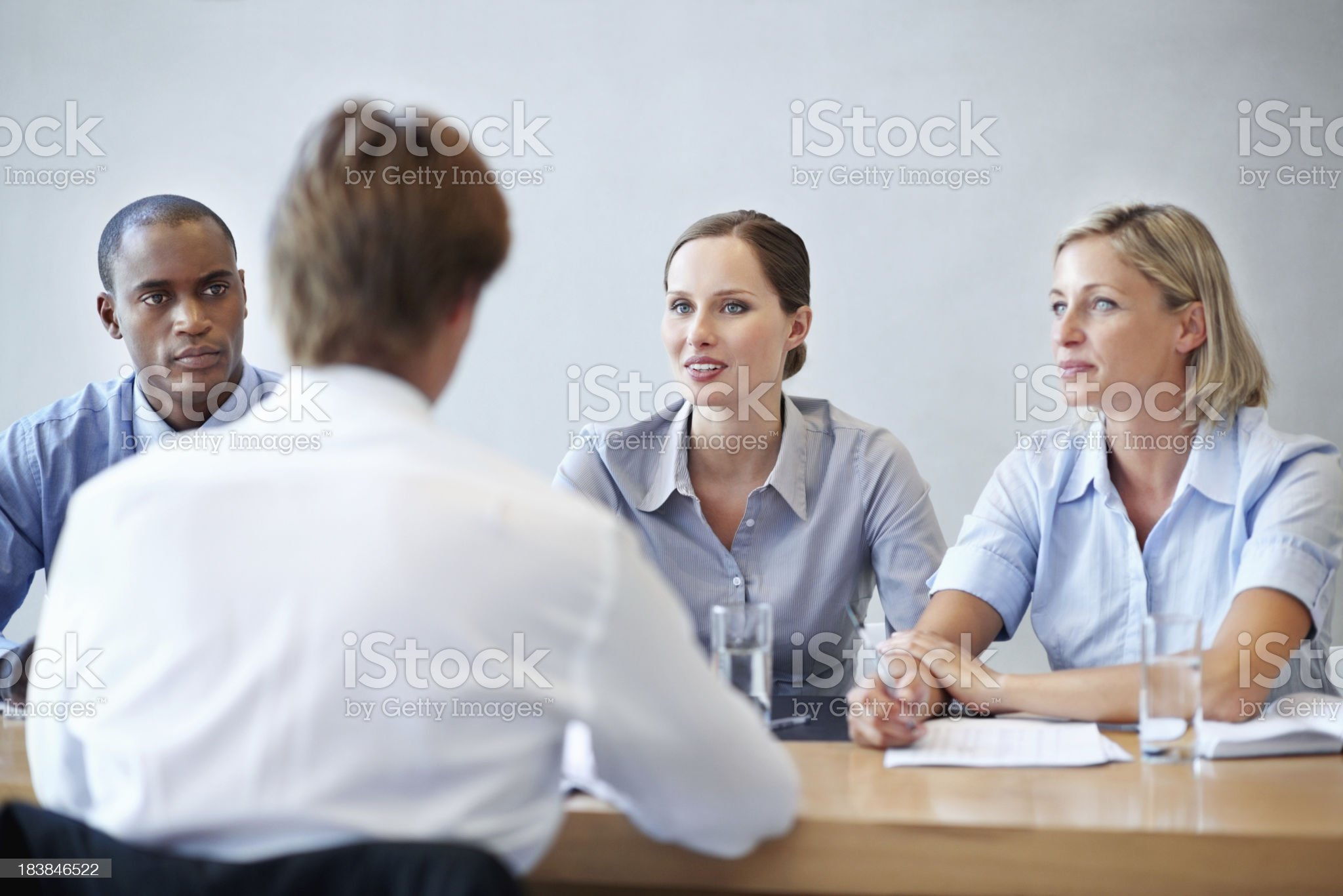 Business people conducting an interview royalty-free stock photo