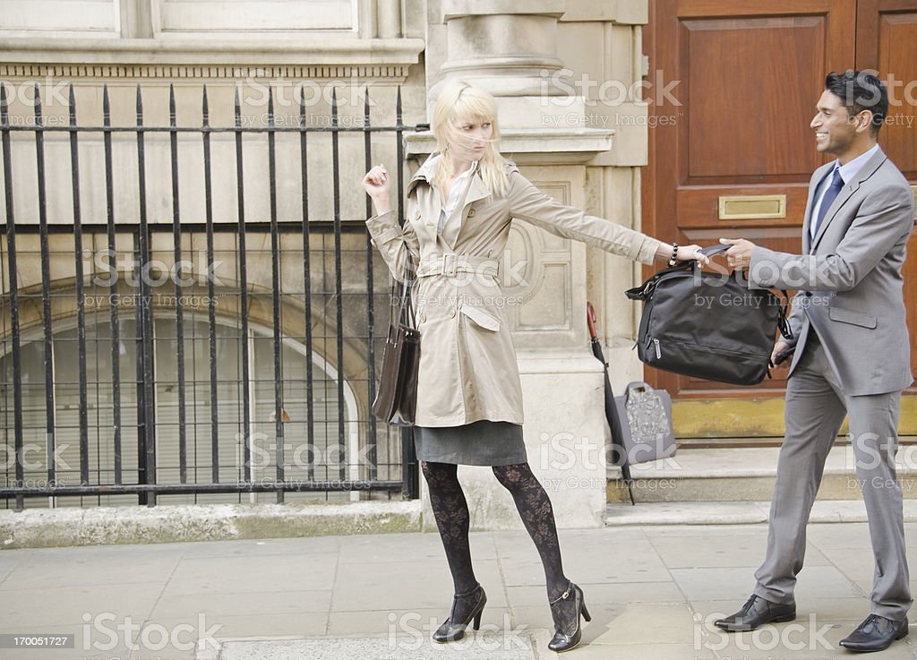 Business People Conflict on the street royalty-free stock photo