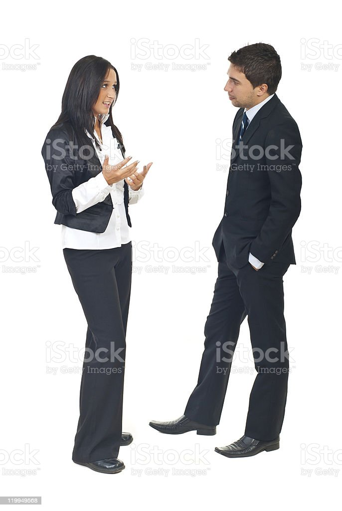Business people conversation stock photo