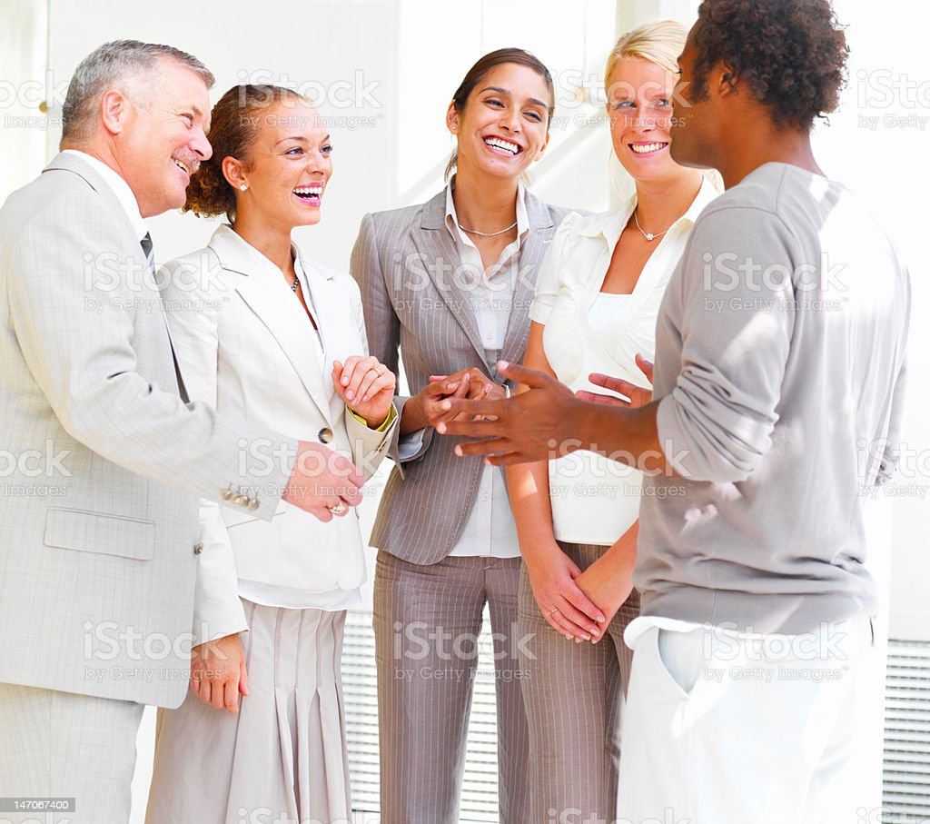Business people conversing royalty-free stock photo