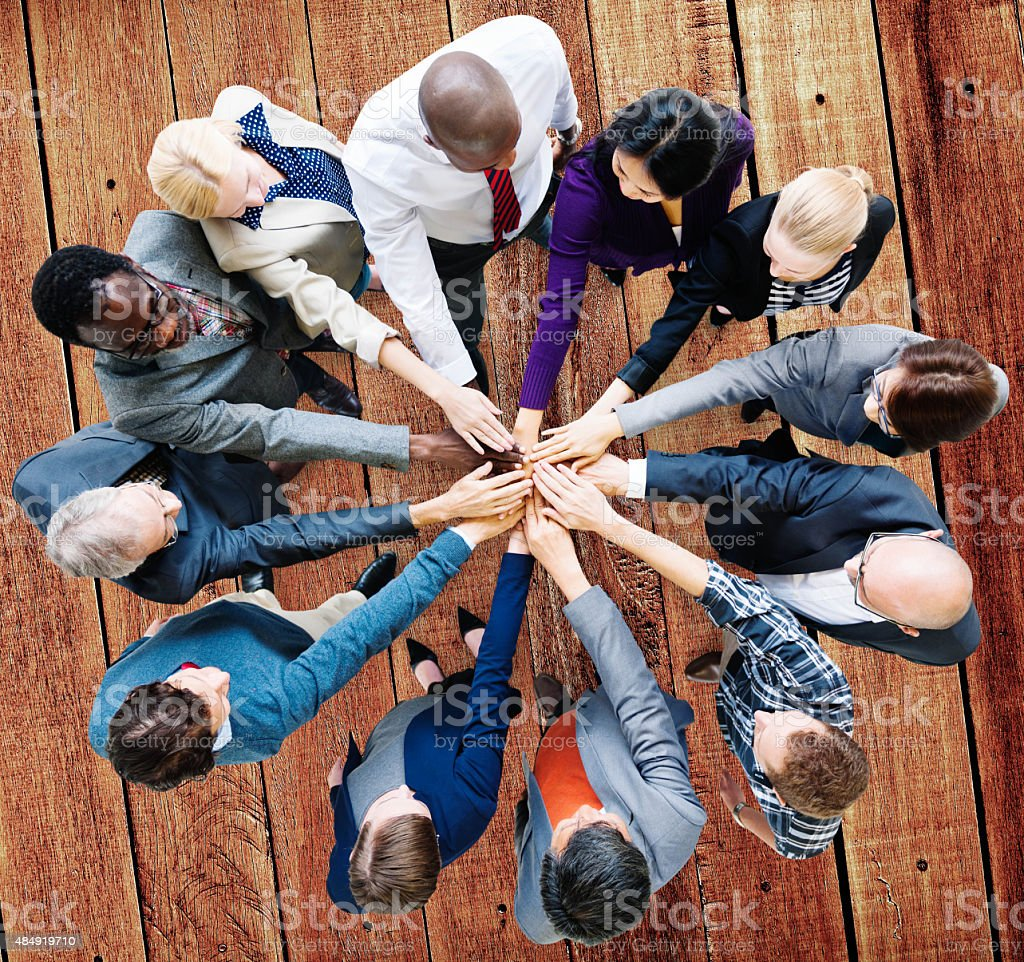 Business People Cooperation Coworker Team Concept stock photo