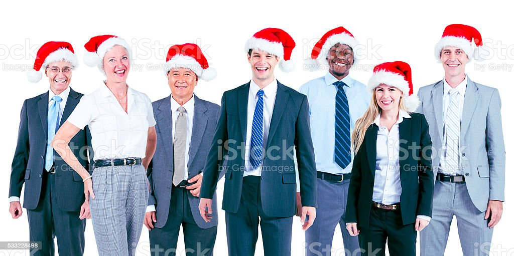 Business People Corporate Celebration Christmas Concept stock photo
