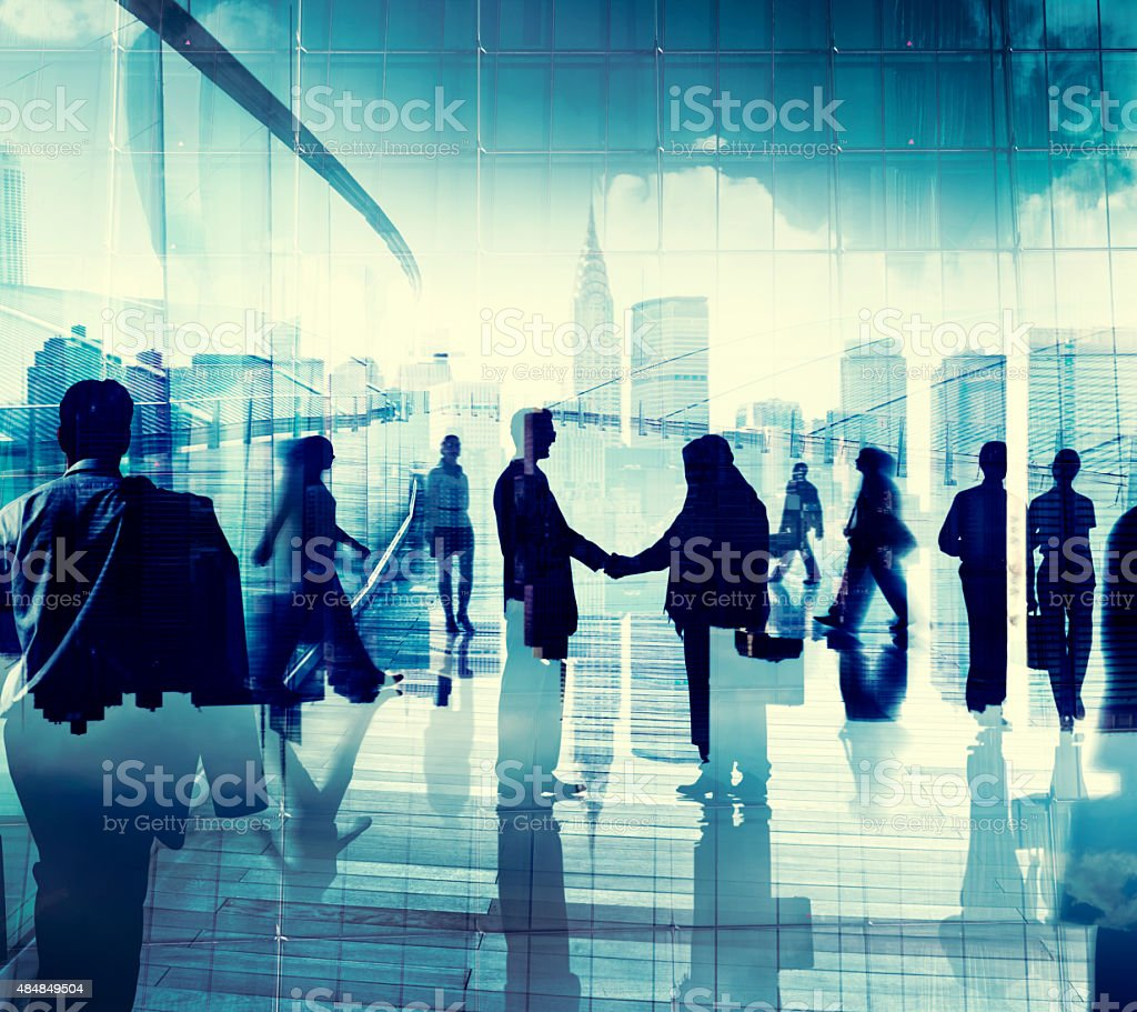 Business People Corporate Connection Greeting Handshake Concept stock photo