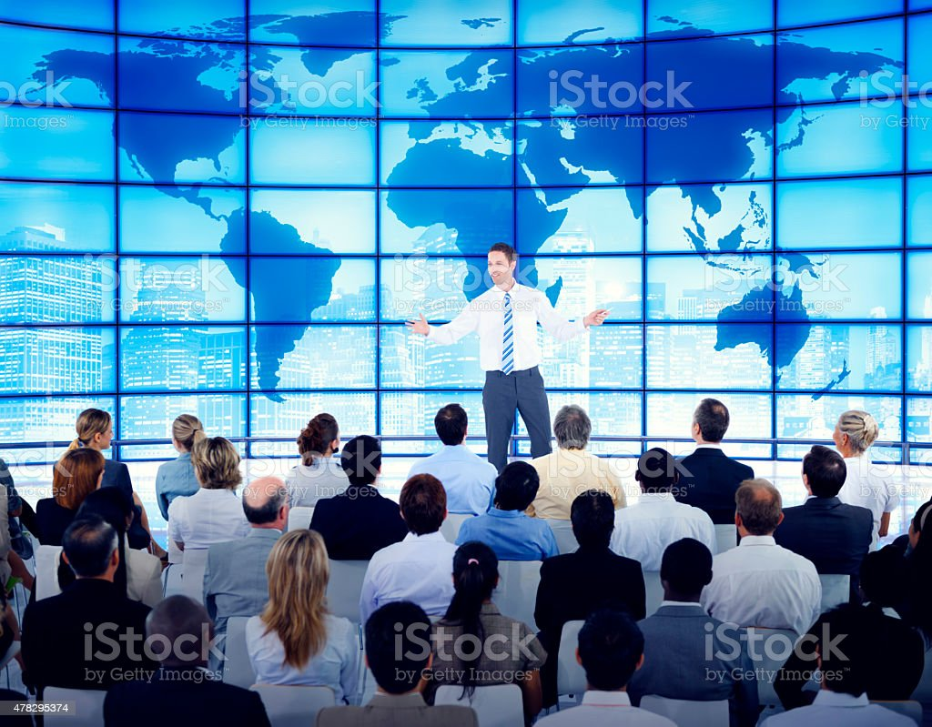 Business People Corporate Global Business Seminar Concept stock photo