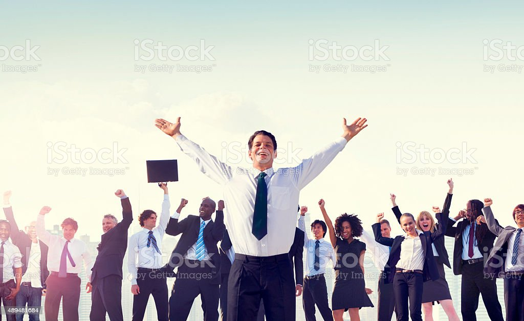 Business People Corporate Success Concept stock photo