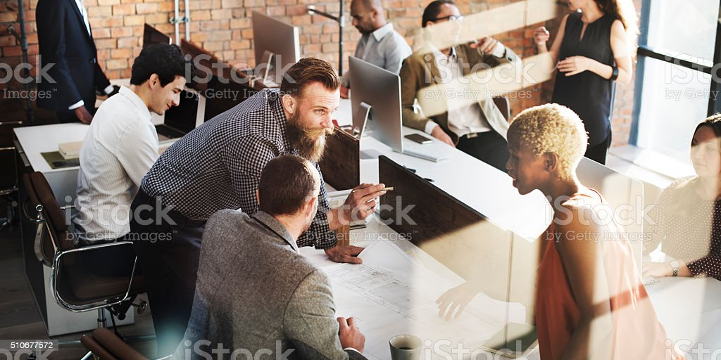Business People Design Architecture Ideas Concept stock photo