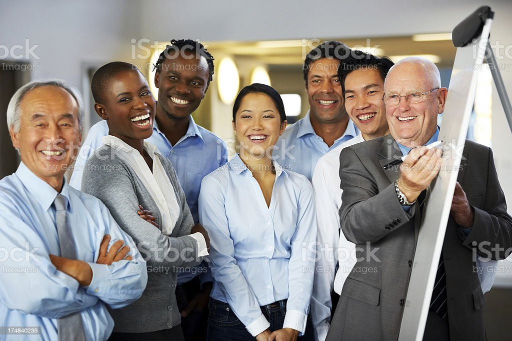 Business people discussing a new project during meeting royalty-free stock photo