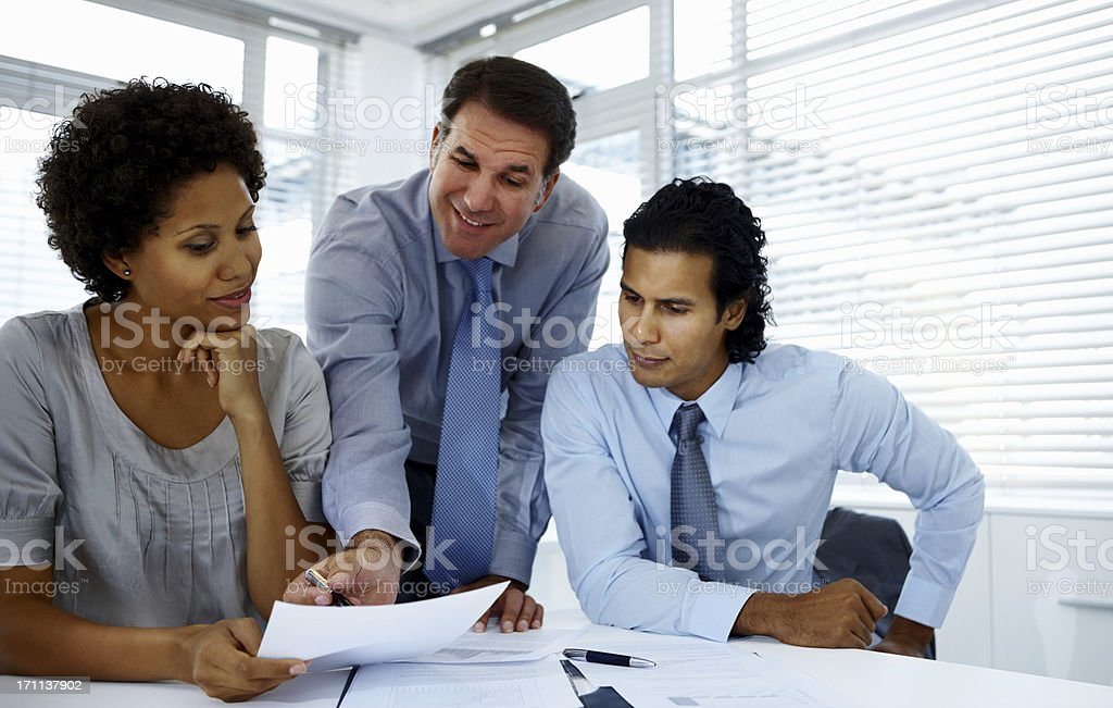 Business people discussing in a meeting royalty-free stock photo