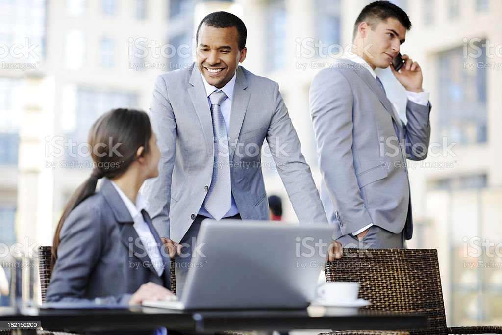 Business people discussing on a meeting. royalty-free stock photo