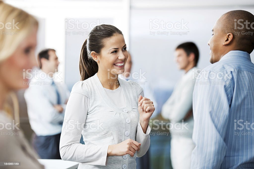 Business people discussing. stock photo