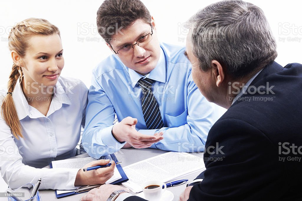 Business people discussing their work royalty-free stock photo