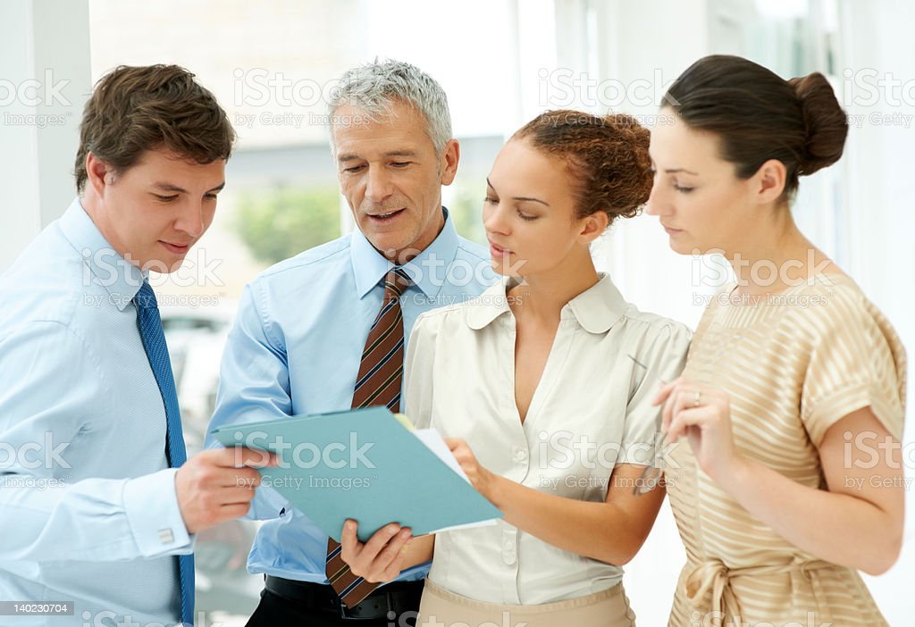 Business people discussing work stock photo