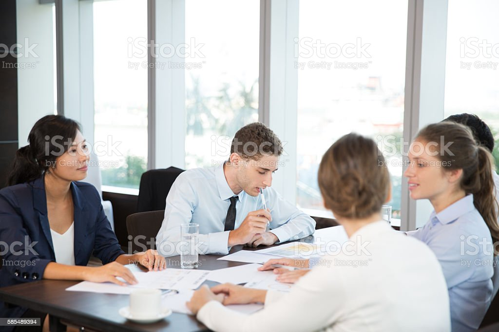 Business People Discussion stock photo
