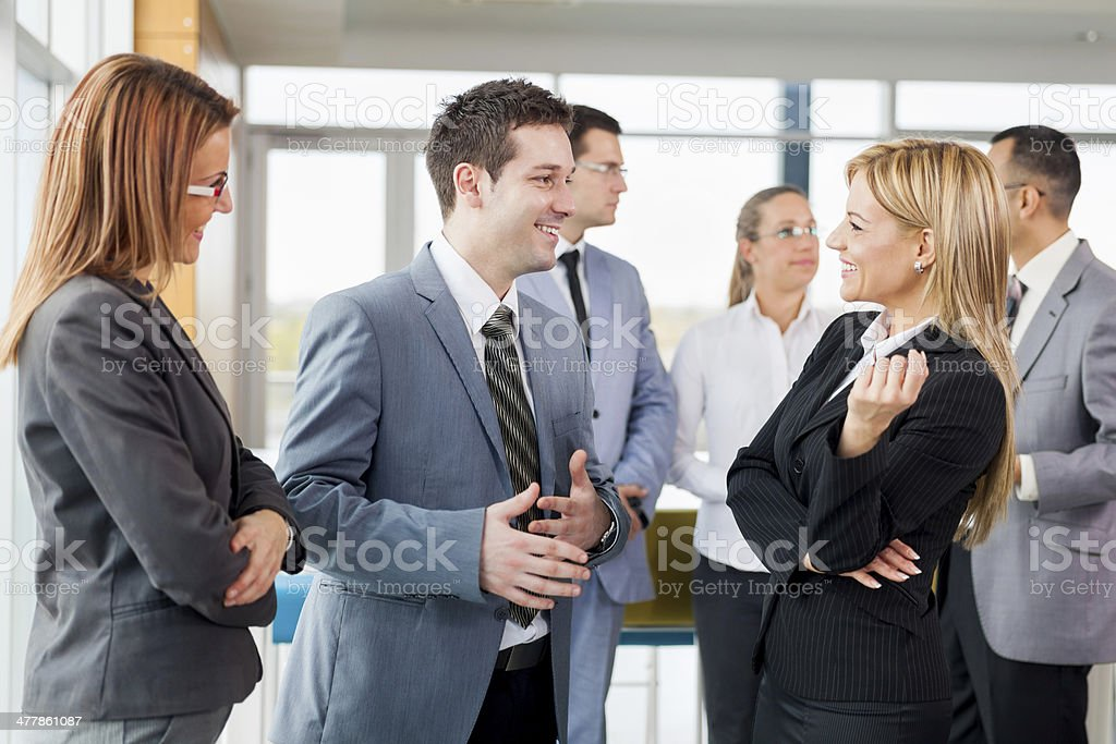 business people doing a conversation royalty-free stock photo