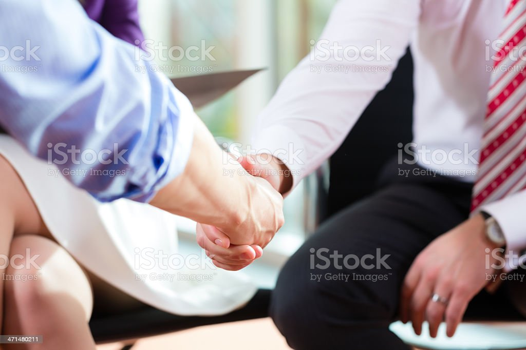 Business people doing Handshake royalty-free stock photo