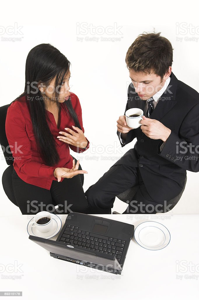 business people drinking coffee royalty-free stock photo
