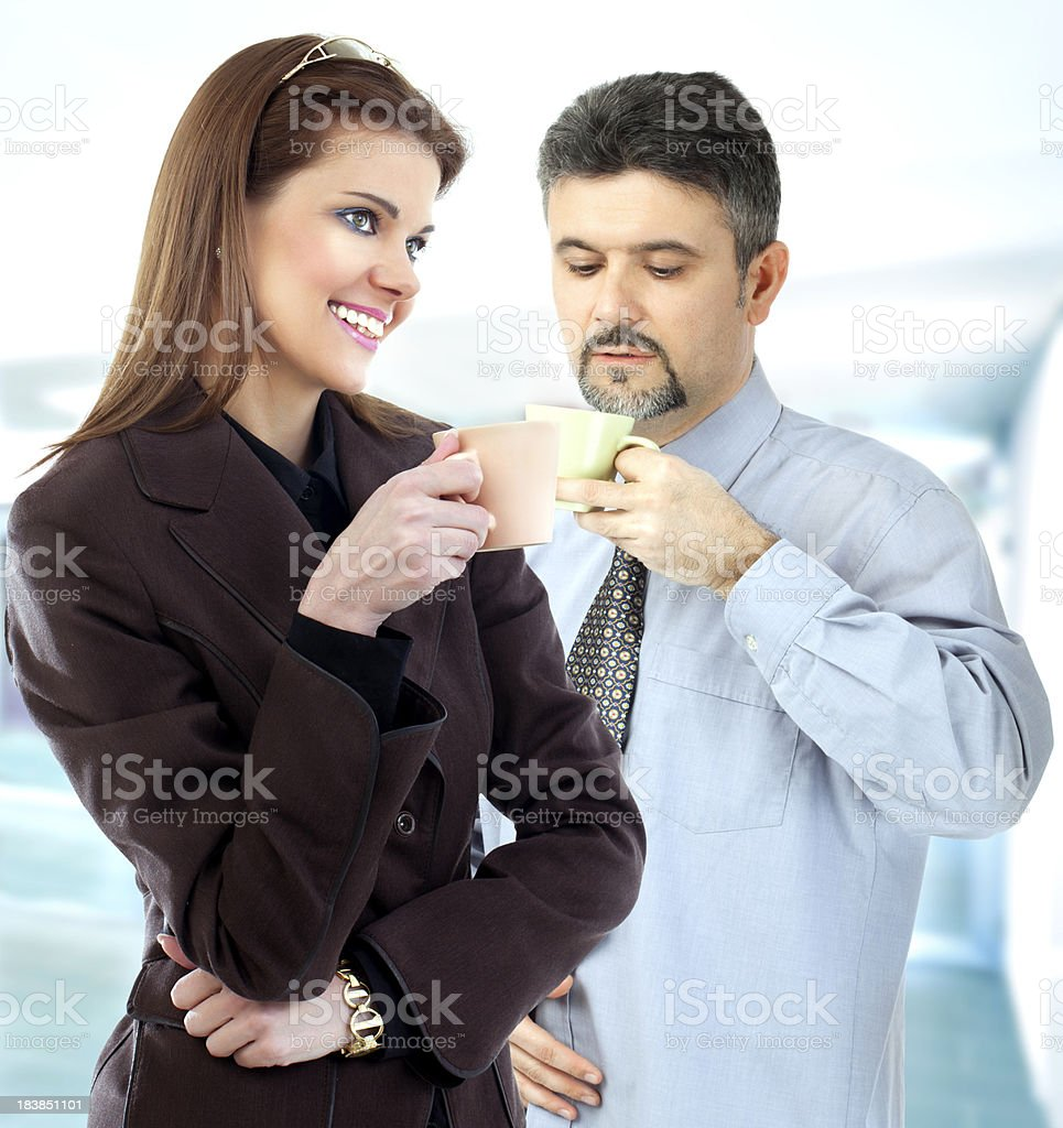 Business people during coffee break royalty-free stock photo